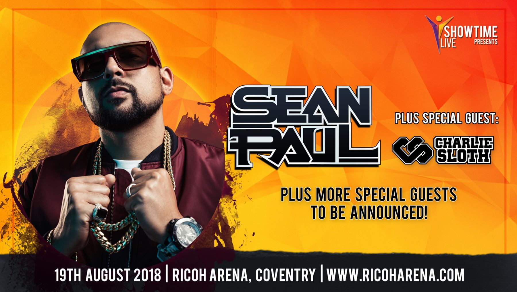 Sean Paul is coming to the Ricoh Arena in August