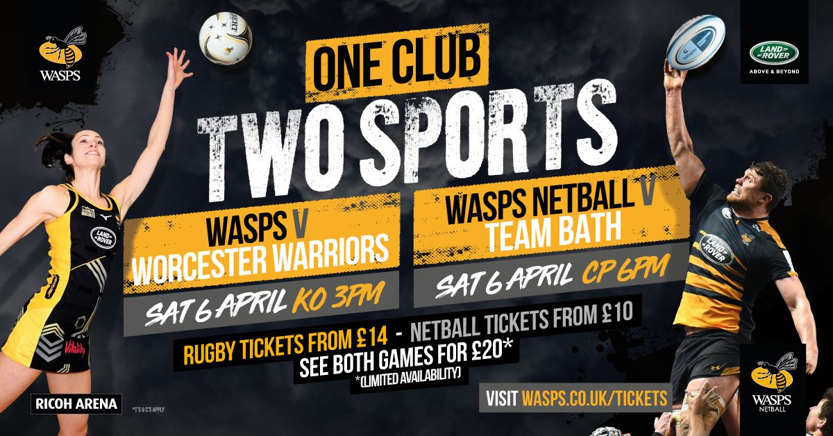 Wasps v Worcester Warriors 6-4-19